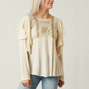 2508  Free People La Cienega Embroidered Top S